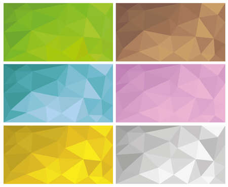 abstract geometric low poly backgrounds
