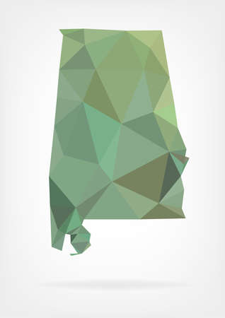 alabama state: Low Poly map of Alabama state