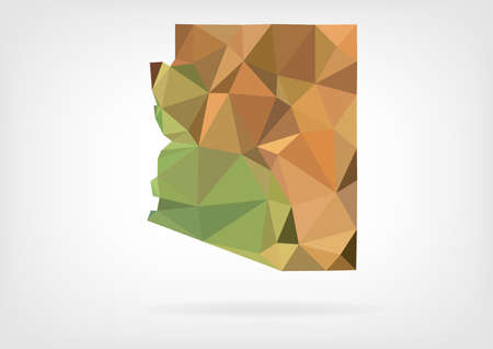 Low Poly map of Arizona state