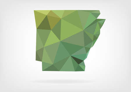 arkansas state map: Low Poly map of Arkansas state