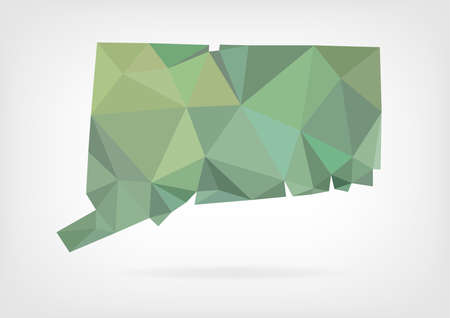 Low Poly map of Connecticut state