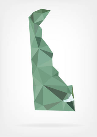Low Poly map of Delaware state Illustration