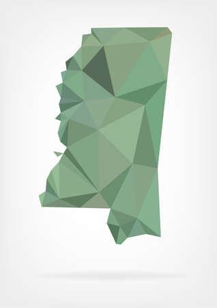 mississippi: Low Poly map of Mississippi state