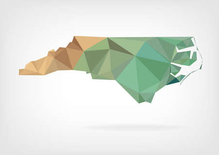 topographic: Low Poly map of North Carolina state