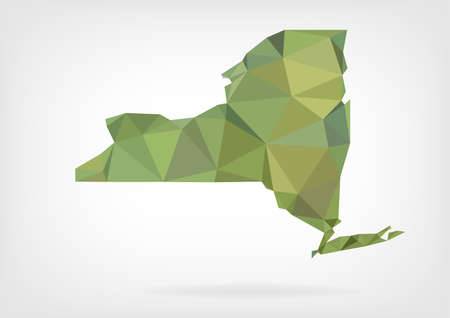 new york map: Low Poly map of New York state