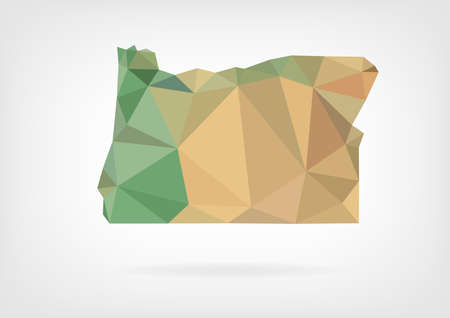 state of oregon: Low Poly map of Oregon state