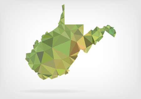 west virginia: Low Poly map of West Virginia state