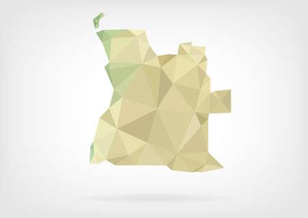 angola: Low Poly map of Angola