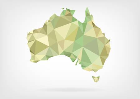 Low Poly map of Australia Illustration