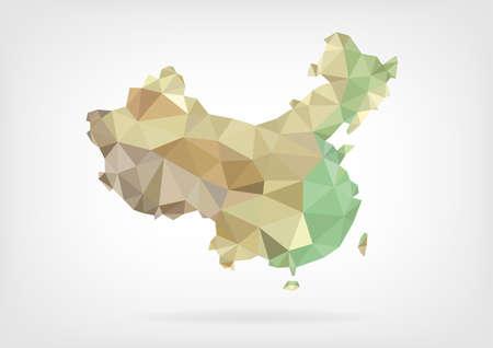 중국의 낮은 폴리지도