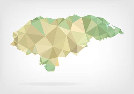 honduras: Low Poly map of Honduras