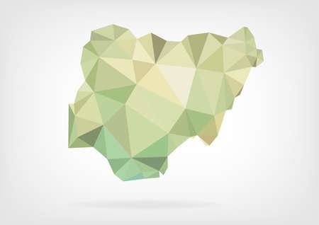 nigeria: Low Poly map of Nigeria