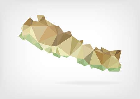 himalaya: Low Poly map of Nepal
