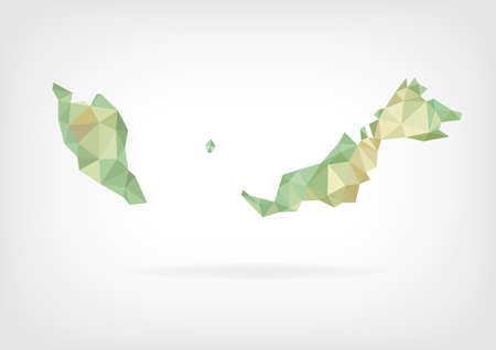Low Poly map of Malaysia