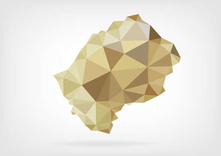 lesotho: Low Poly map of Lesotho