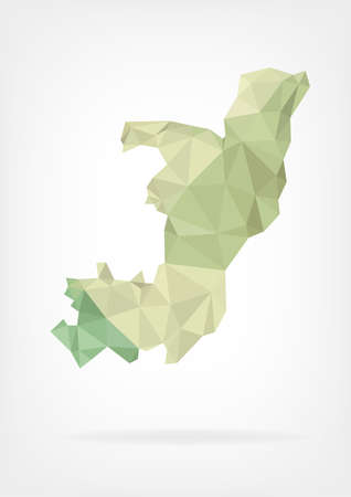 congo: Low Poly map of Congo