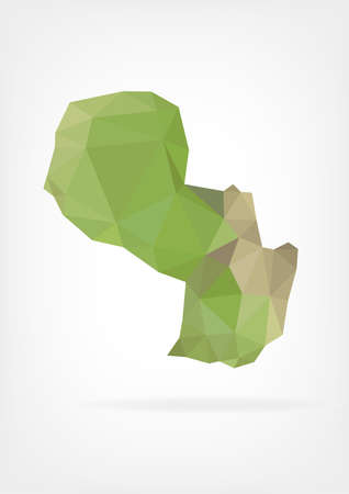 paraguay: Low Poly map of Paraguay Illustration