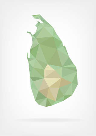 sri: Low Poly map of Sri Lanka