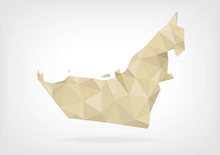 emirates: Low Poly map of United Arab Emirates