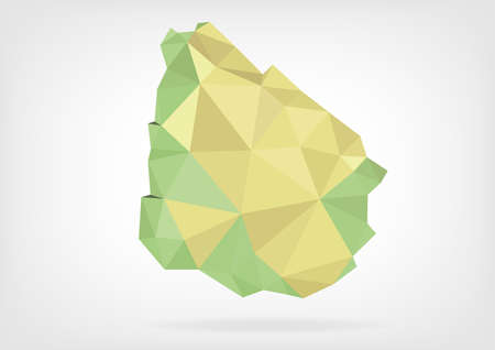 uruguay: Low Poly map of Uruguay