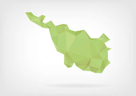 bremen: Low Poly map of german region Bremen