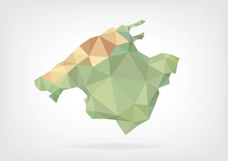 majorca: Low Poly map of Mallorca Island