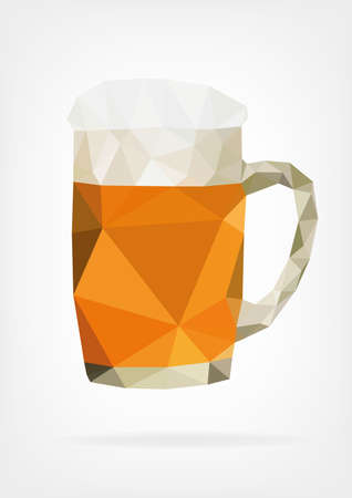 beer pint: Low Poly Glass of Beer