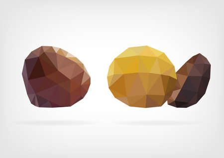 low poly: Low Poly Sweet Chestnut