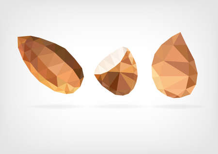 nutshell: Low Poly Almond