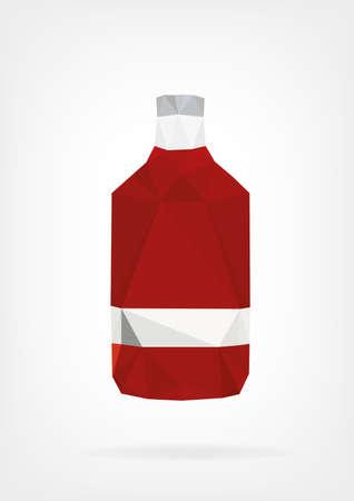 whisky bottle: Low Poly Liquor Bottle Illustration