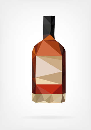 Low Poly Liquor Bottle Ilustrace
