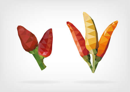 bush pepper: Low Poly Tabasco Peppers