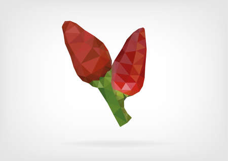 tabasco: Low Poly Tabasco Peppers