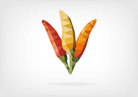 peppers: Low Poly Tabasco Peppers
