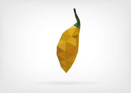 bumpy: Low Poly Yellow Bumpy Pepper Illustration