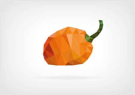 scotch: Low Poly Scotch Bonnet Pepper