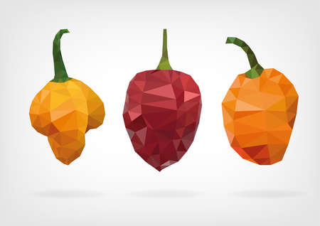 Low Poly Scotch Bonnet Pepper