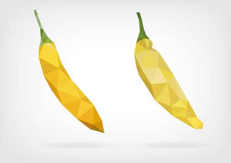 tabasco: Low Poly Lemon Drop Pepper Illustration