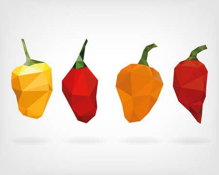 habanero: Low Poly Habanero Pepper
