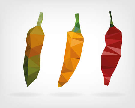 tabasco: Low Poly Aji Chii Pepper