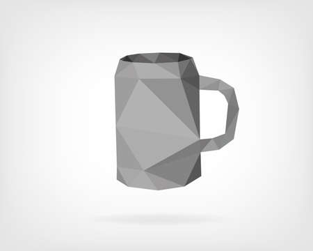 low poly: Low Poly Traditional Beer Mug Illustration