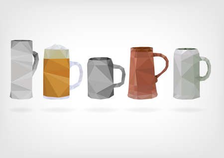 dryness: Low Poly Traditional Beer Mug Illustration