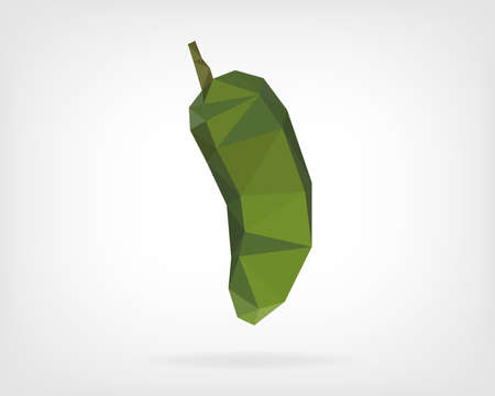 red jalapeno: Low Poly Jalapeno