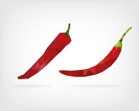 cayenne pepper: Low Poly Cayenne Pepper