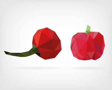low poly: Low Poly Cherry Pepper