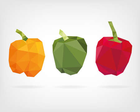low poly: Low Poly Bell Pepper Illustration