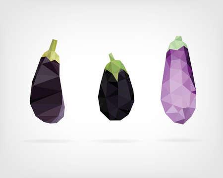 aubergine: Low Poly Aubergine oder Aubergine