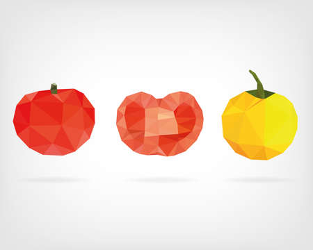 low poly: Low Poly Tomato Illustration