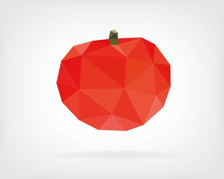 Low Poly Tomato Ilustração
