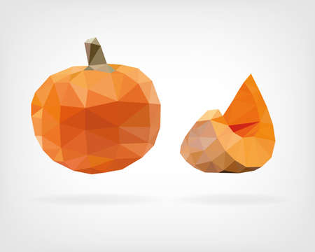 low poly: Low Poly Pumpkin